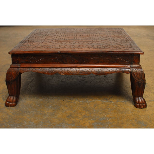 Anglo Indian Carved Low Table - Image 3 of 8