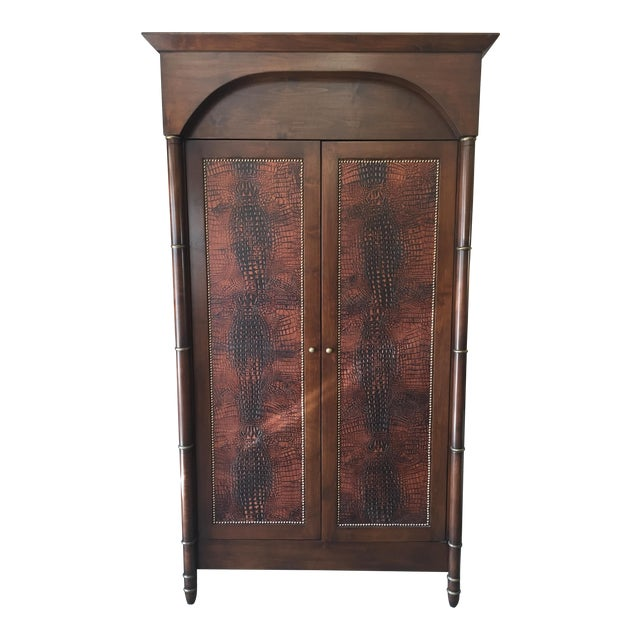 Faux Alligator Armoire - Image 1 of 5
