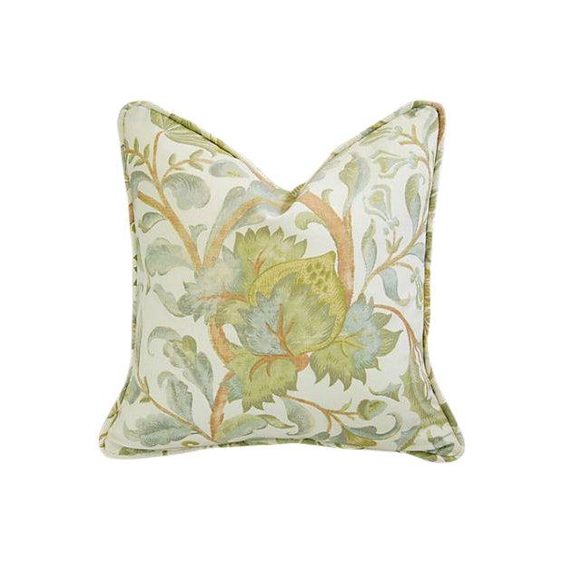 Designer Custom Acquitaine Lyceana Floral Pillow - Image 1 of 5
