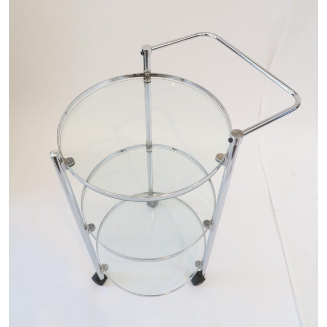 Glass & Chrome Bar Cart - Image 4 of 7