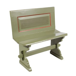 Antique Swedish Mint Green Bench