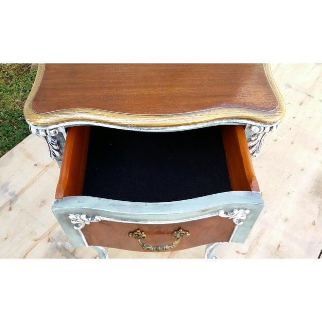 Hand-Painted French Nightstand - Image 8 of 9