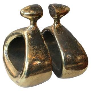 Ben Seibel Modernist Brass Bookends