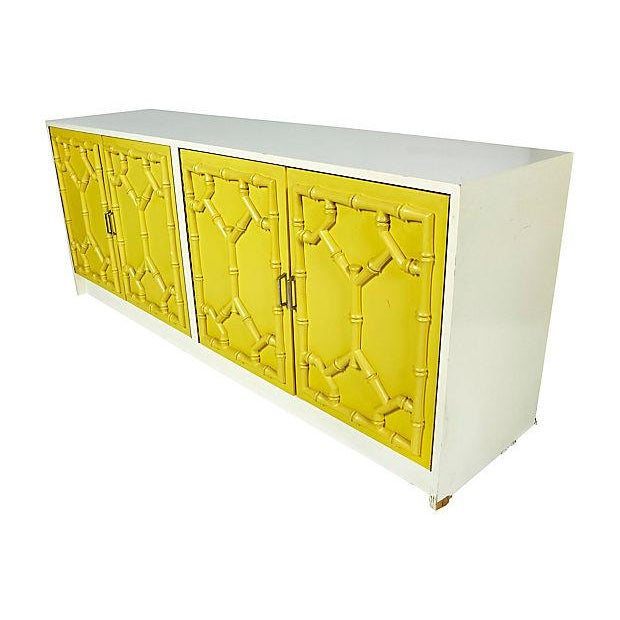 1970s Bamboo-Style Low Dresser - Image 9 of 10