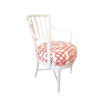 Drexel Heritage Faux White Bamboo Chair