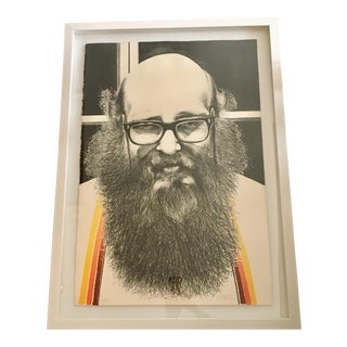 Signed Serigraph of Alan Ginsberg