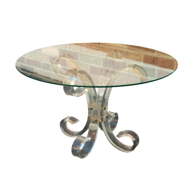 Image of 1960's Lucite Cocktail Table