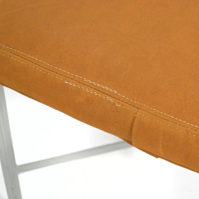 Shelby Williams Paul McCobb Style Ultrasuede Stools- a Pair - Image 4 of 7