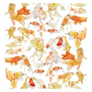 Voutsa Wallpaper - Koi on White
