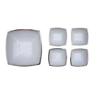 Italian Silver Porcelain Bowls by I Patrizi - 5