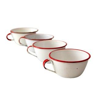 Vintage Enamelware Mugs - Set of 4