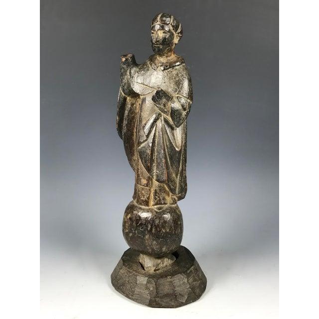 19th C. Carved San Vicente Ferrer Sculpture - Image 3 of 6