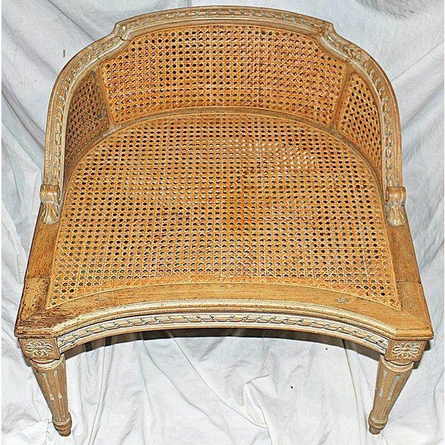 Antique French Accent Chair With Caned Seat Chairish