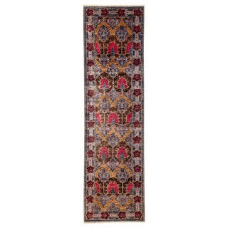 """Arts & Crafts Hand Knotted Runner - 2'9"""" X 9'8"""""""