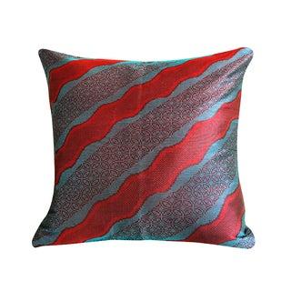 Tropical Java Handwoven Ikat Pillow