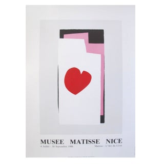 1986 French Matisse Exhibition Poster