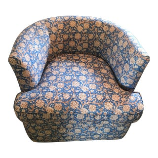 Custom Upholstered Swivel Bucket Chair