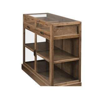 Sarreid LTD Transitional Grey Oak Display Cabinet