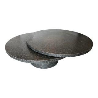 Faux Granite Swivel Coffee Table