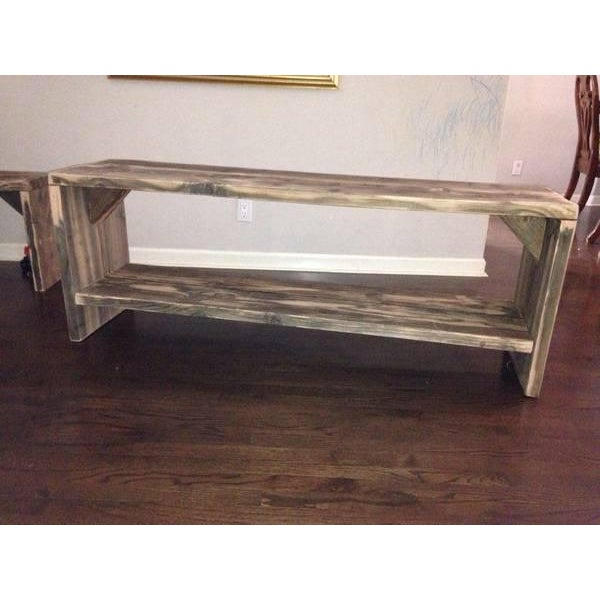Custom Rustic Wood Bench - Image 7 of 7