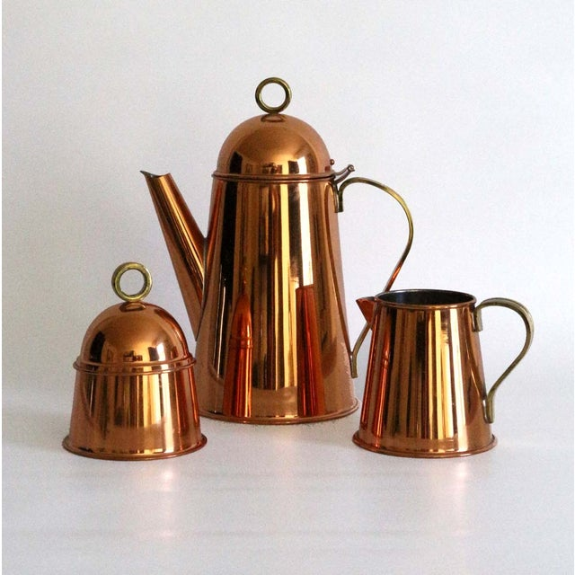 Copper Coffee Service - Set of 3 - Image 2 of 8