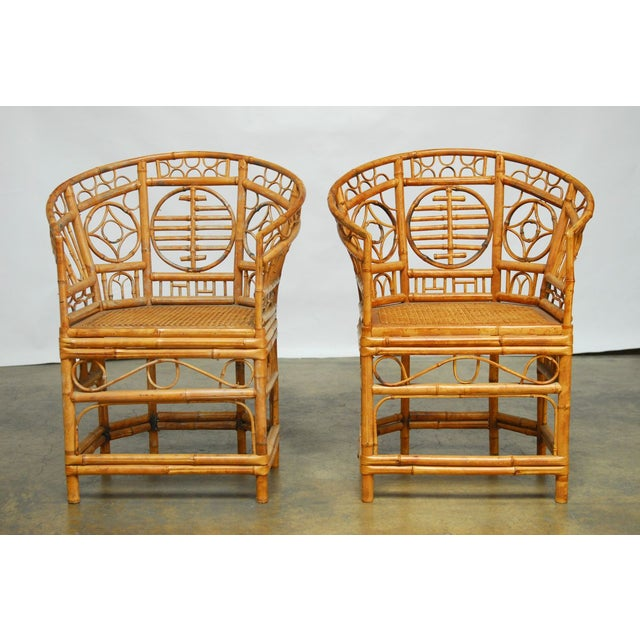 Brighton Pavilion Style Chinoiserie Chairs - Pair - Image 2 of 9