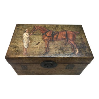 Silk Road Hand-Painted Leather Box