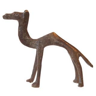 Vintage African Bronze Casting of Camel