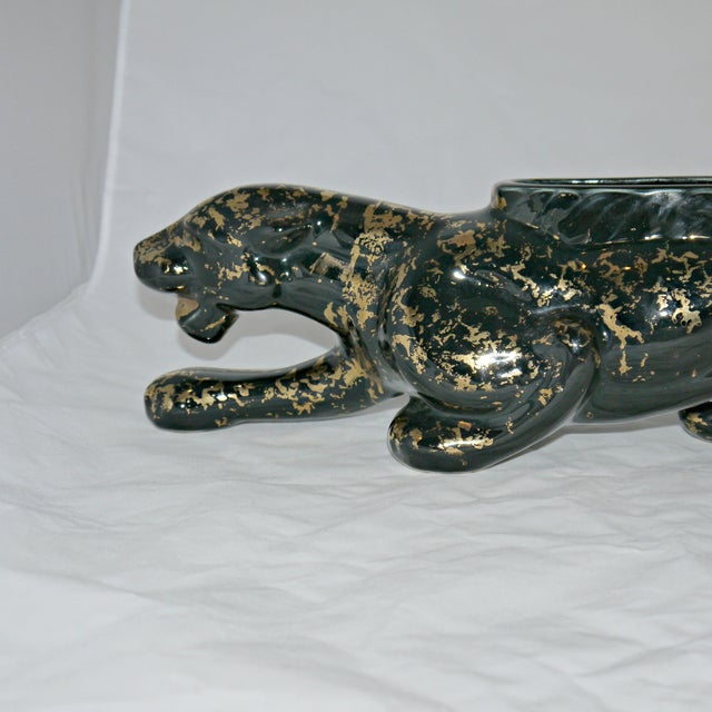 Vintage Mid-Century Ceramic Panther Planter - Image 3 of 8