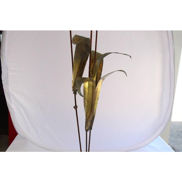 Mid-century Jere Cattail Sculpture - Image 3 of 5