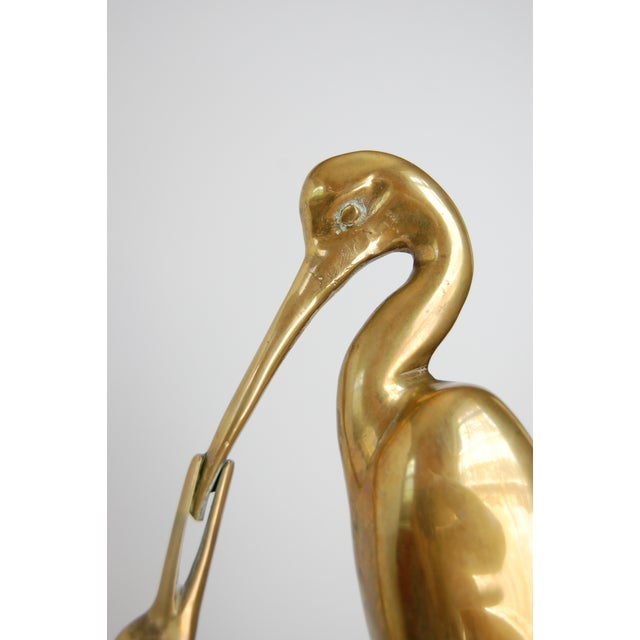 Large Vintage Brass Crane Statue - Image 9 of 9
