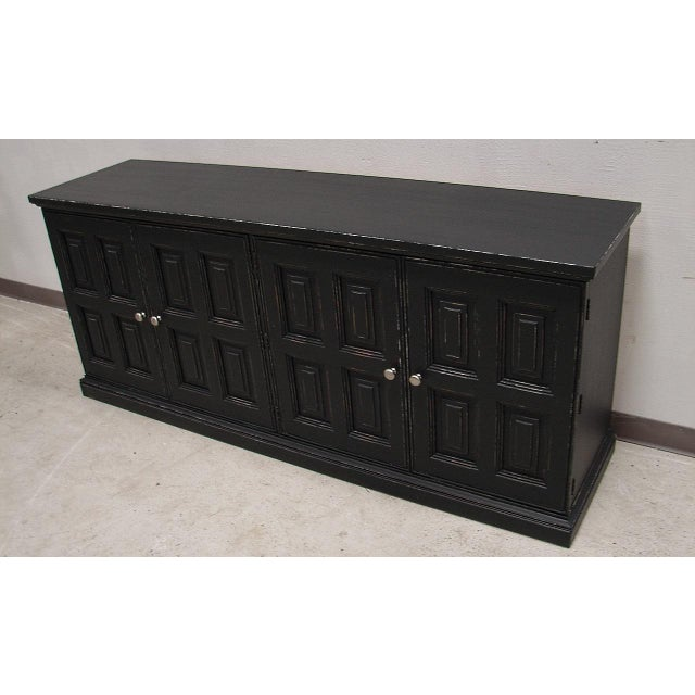 Image of Henredon Artifacts Black Painted Dresser/Chest