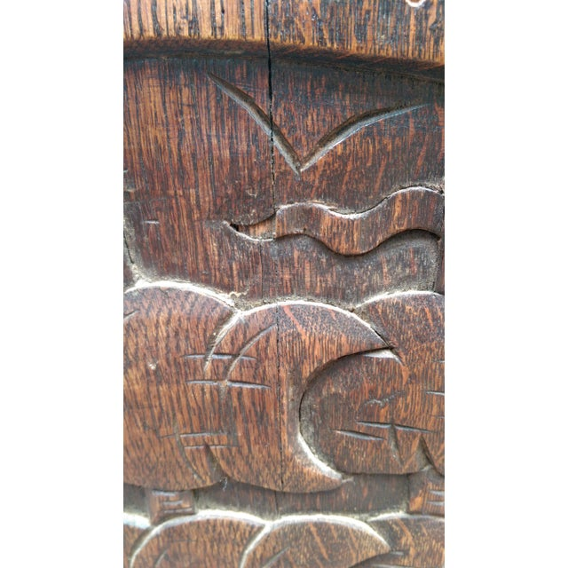 Antique Solid Wood Carved Nautical Ship Fire Screen - Image 6 of 9