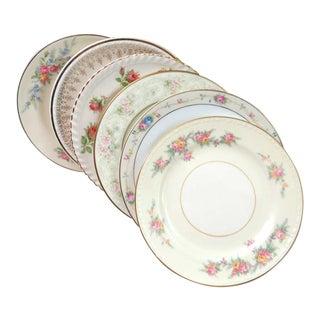 Vintage Mismatched China Dessert Plates - Set of 6