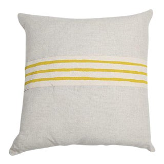 Modern Erin Flett Linen Pillow With Trim