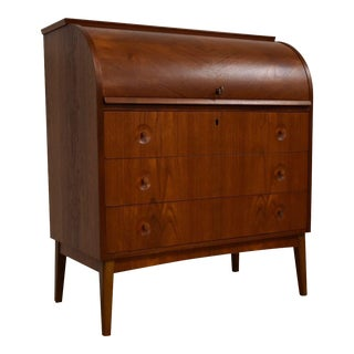 Egon Ostergaard Swedish Teak Roll Top Desk