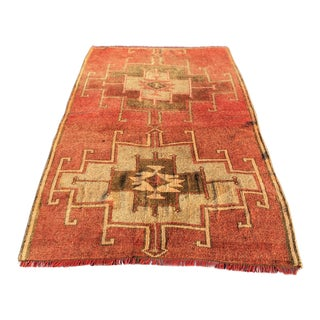 Antique Turkish Oushak Rug - 3'10 x 6'5""