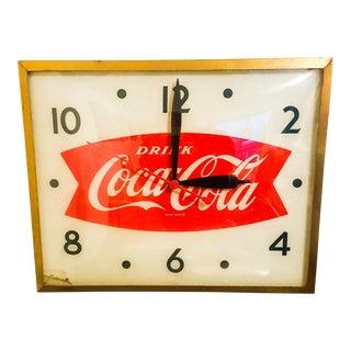 Mid-Century Modern Coca Cola Parlor Clock