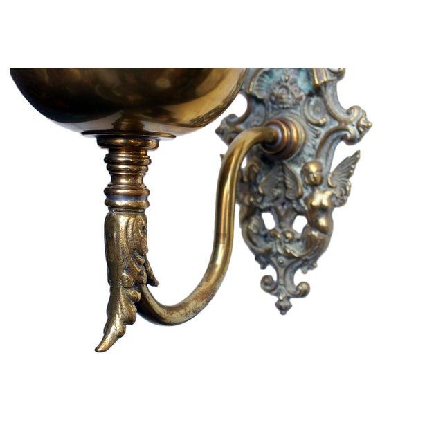 Brass Wall Bracket Oil Lamp Chairish