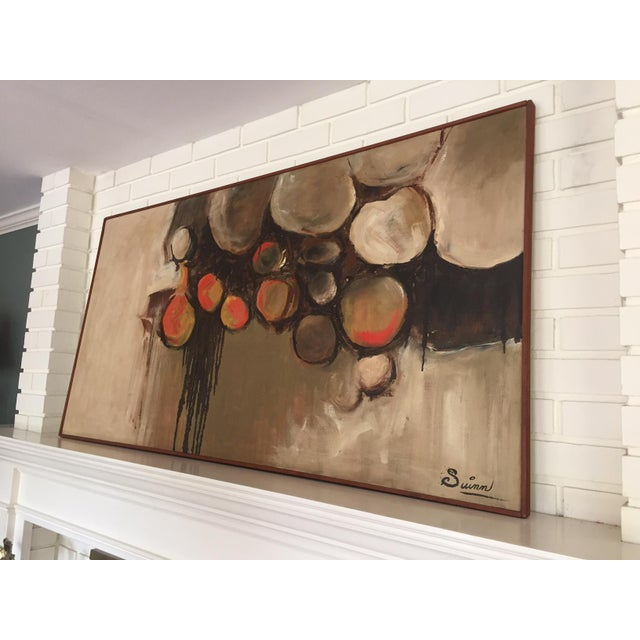 Large Mid-Century Abstract Painting - Image 3 of 5