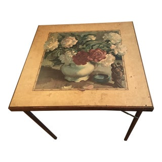 Vintage Painted Card Table Fireplace Screen
