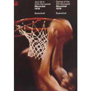 1976 Montreal Olympics Poster, Basketball