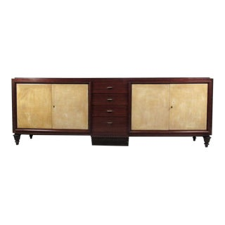 Fantastic Mid-Century Marble Top Sideboard, style of Emile-Jacques Ruhlmann