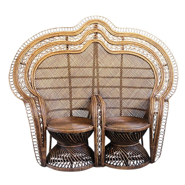 Double Plantation Peacock Chair - Image 5 of 5