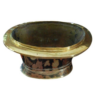 Large Oval Brass Container