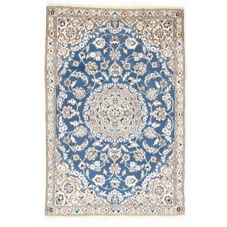 Persian Nain Silk & Wool Rug - 3' x 4'6""
