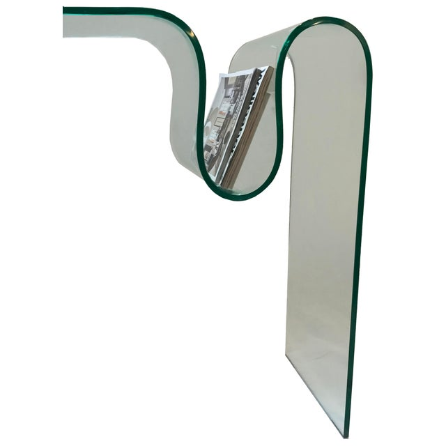 Solid Bent Glass Console Table - Image 2 of 7
