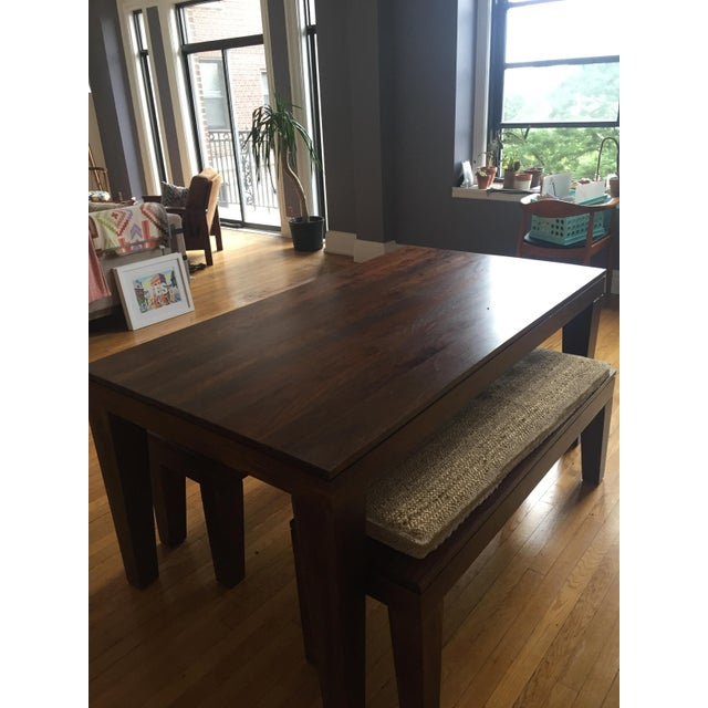 West Elm Carroll Farm Kitchen Table Amp Benches Chairish
