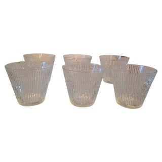 Mid-Century Clear Old Fashioned Glasses - Set of 6