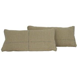 Grain Sack Style Pillows - Pair